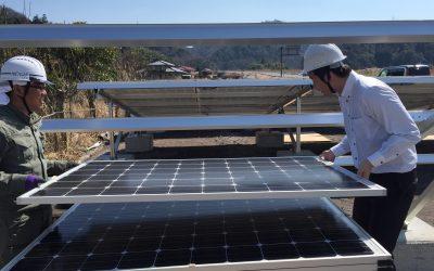 ソーラーパネルの設置