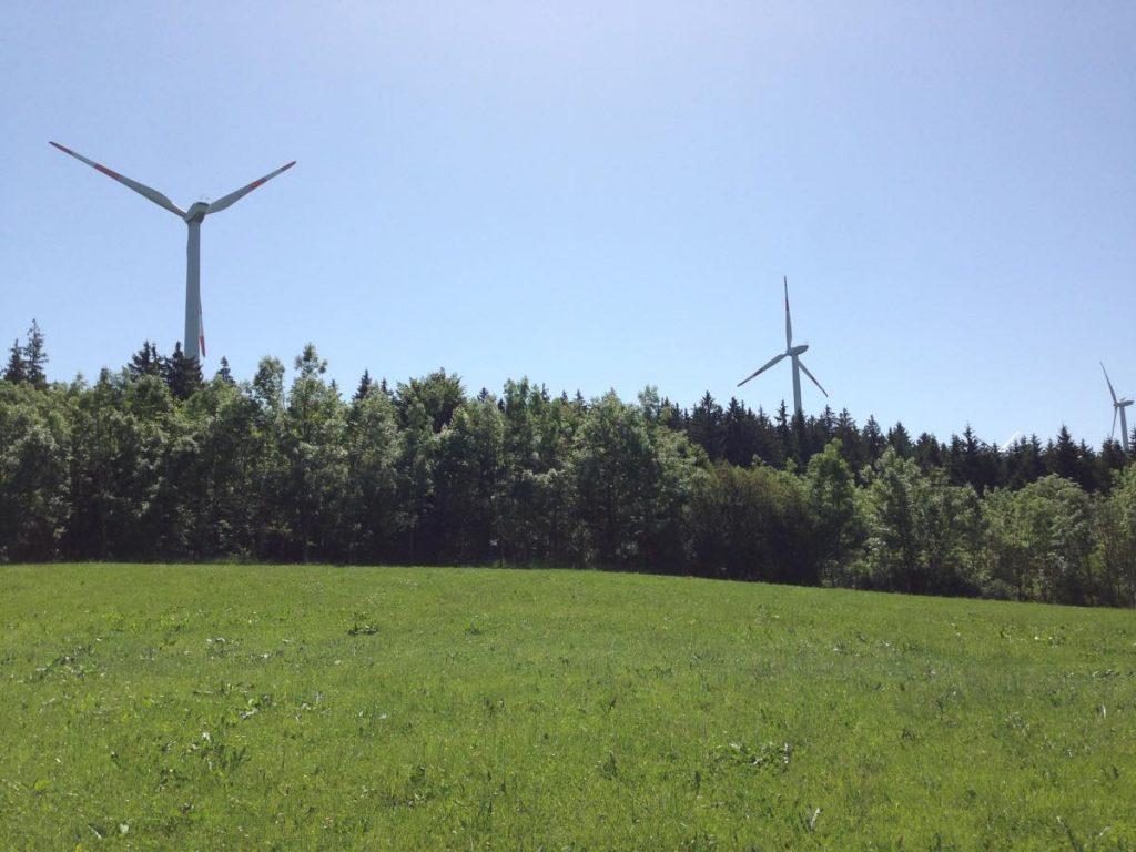 ヴィルトポルツリートの風力発電