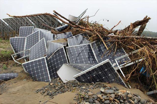太陽光発電所が台風などの自然災害にあったらどうしよう