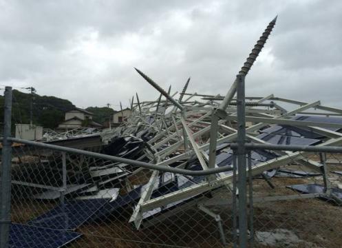 台風による太陽光パネルの被害