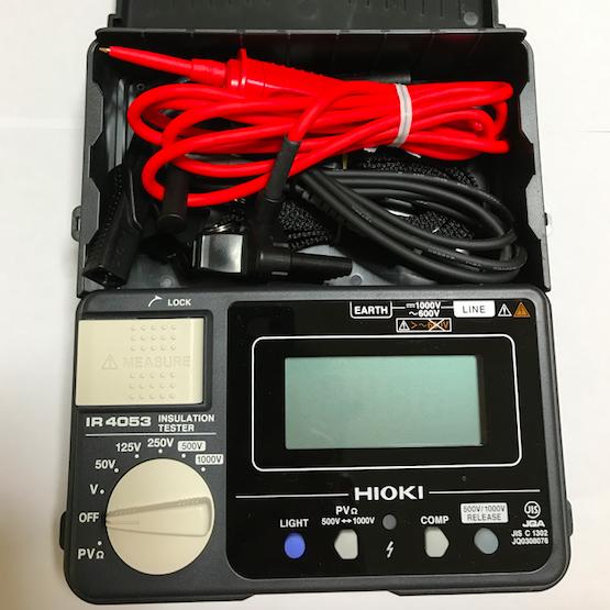 【点検装置】HIOKI 絶縁抵抗計 IR4053 太陽光発設備用