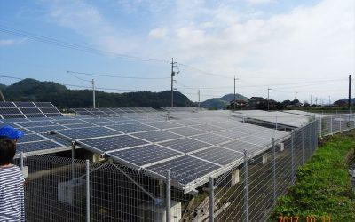 当社所有の鳥取県太陽光発電所